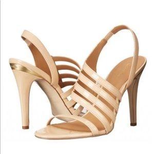 Calvin Klein Mirian Strappy Sandal Heel Nude Tan 8
